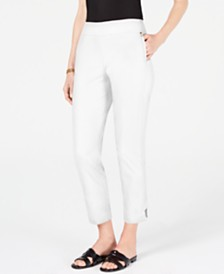 JM Collection Petite Tummy-Control Ankle Pants, Created for Macy's