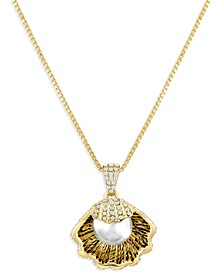 ZAXIE Pave Shell Pendant Necklace