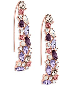 ZAXIE Shimmer and Spice Cluster Stone Threader Earrings
