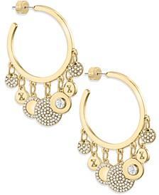 ZAXIE Glow Figure Gold Hoop Earrings with Charms
