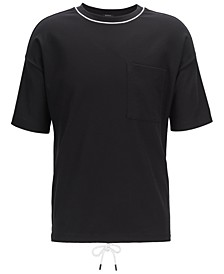 BOSS Men's Tames 06 Relaxed-Fit Waffle Cotton T-Shirt