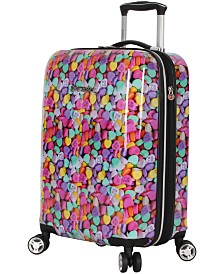 "Betsey Johnson 20"" Hardside Expandable Carry-On Spinner Suitcase"