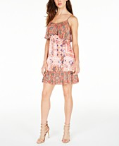 3984ff8e38c1 GUESS Avah Printed Popover Dress