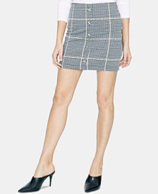 Check Her Out Knit Mini Skirt