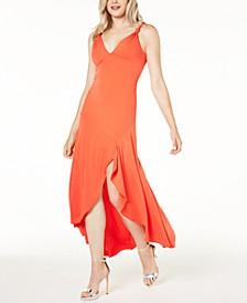 Mylarose Asymmetrical Crisscross Dress