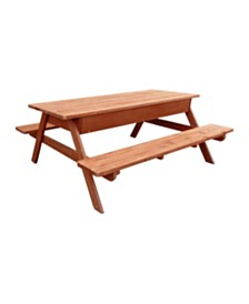 Leisure Season Picnic Table with Storage Compartment