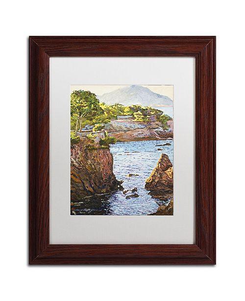 "Trademark Global David Lloyd Glover 'Riviera Sea Cove' Matted Framed Art - 11"" x 14"""
