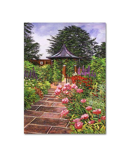 "Trademark Global David Lloyd Glover 'Carrington Garden' Canvas Art - 14"" x 19"""