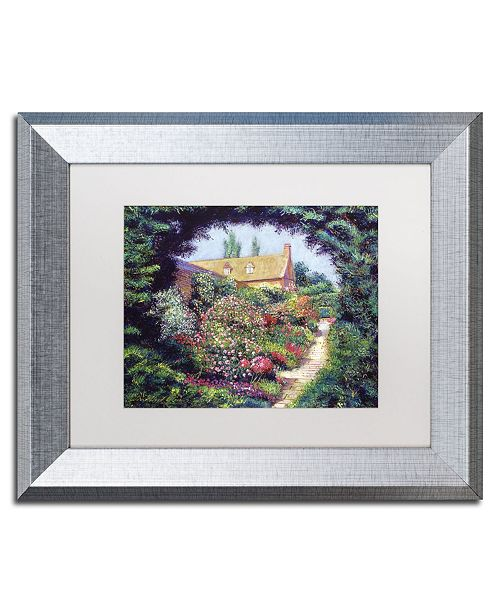 "Trademark Global David Lloyd Glover 'English Garden Stroll' Matted Framed Art - 11"" x 14"""