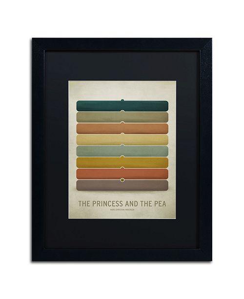 "Trademark Global Christian Jackson 'Princess Pea' Matted Framed Art - 16"" x 20"""