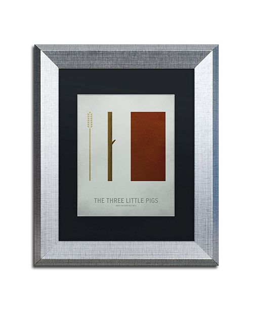 "Trademark Global Christian Jackson 'Three Little Pigs' Matted Framed Art - 11"" x 14"""