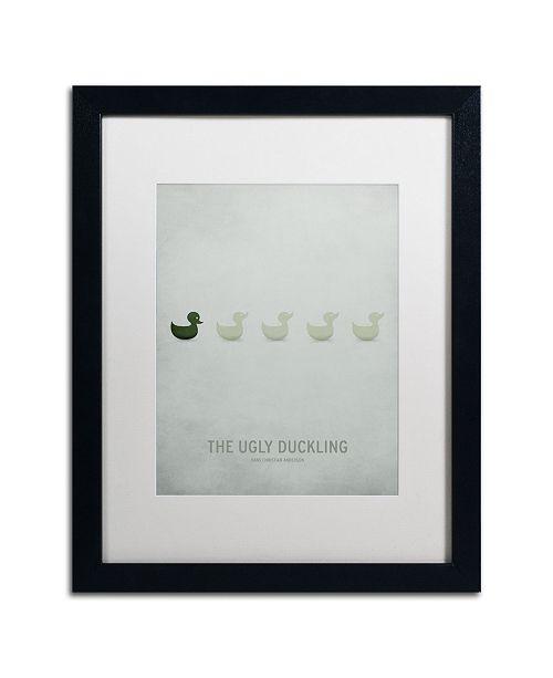 "Trademark Global Christian Jackson 'Ugly Duckling' Matted Framed Art - 16"" x 20"""