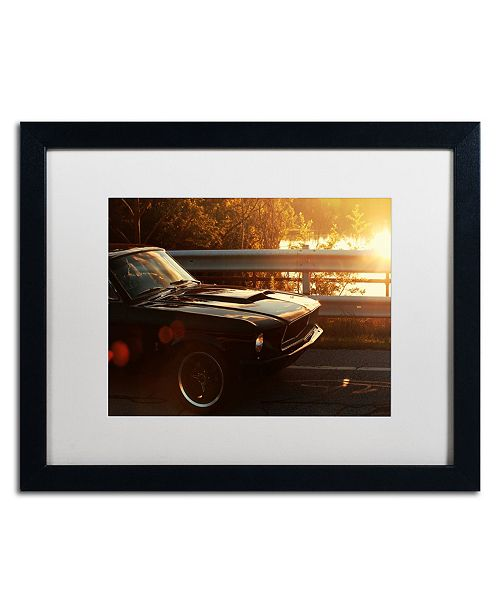 "Trademark Global Jason Shaffer '67 Mustang' Matted Framed Art - 20"" x 16"""
