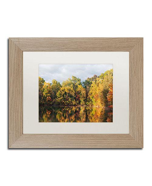 """Trademark Global Jason Shaffer 'Autumn Reflections' Matted Framed Art - 14"""" x 11"""""""