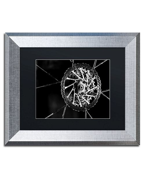 """Trademark Global Jason Shaffer 'Bike Parts' Matted Framed Art - 14"""" x 11"""""""