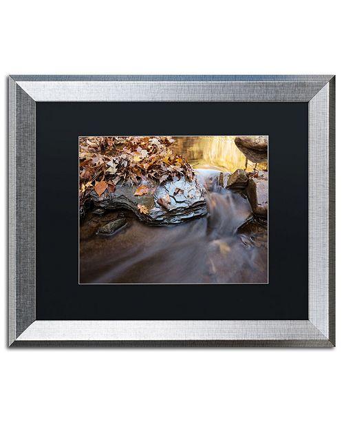 """Trademark Global Jason Shaffer 'Chance Creek 2' Matted Framed Art - 20"""" x 16"""""""