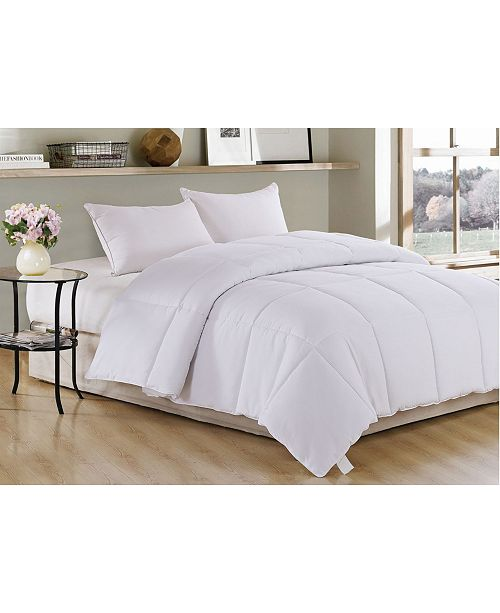 Ac Pacific Polyester Medium Warmth Down Alternative Twin Comforter with Duvet Insert