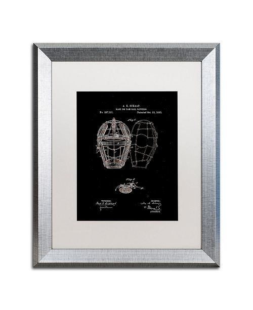 """Trademark Global Claire Doherty 'Catcher's Mask Patent 1883 Black' Matted Framed Art - 16"""" x 20"""""""