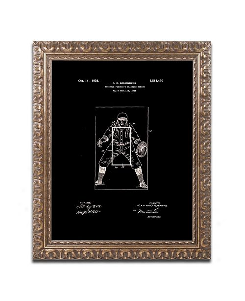 """Trademark Global Claire Doherty 'Practice Target Patent 1924 Black' Ornate Framed Art - 11"""" x 14"""""""