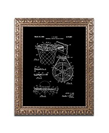"""Claire Doherty 'Basketball Hoop Patent 1965 Black' Ornate Framed Art - 11"""" x 14"""""""