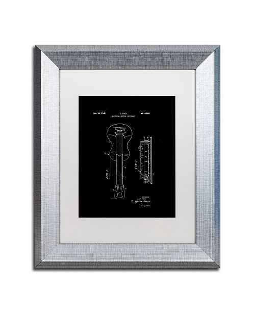 """Trademark Global Claire Doherty 'Gibson Electric Guitar Patent Black' Matted Framed Art - 11"""" x 14"""""""
