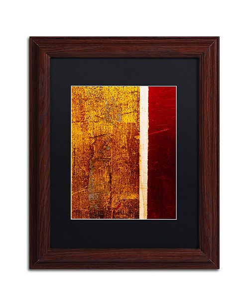 """Trademark Global Claire Doherty 'Gold Flakes' Matted Framed Art - 11"""" x 14"""""""