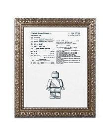 """Claire Doherty 'Lego Man Patent 1979 White' Ornate Framed Art - 11"""" x 14"""""""