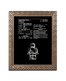 """Claire Doherty 'Lego Man Patent 1979 Black' Ornate Framed Art - 11"""" x 14"""""""
