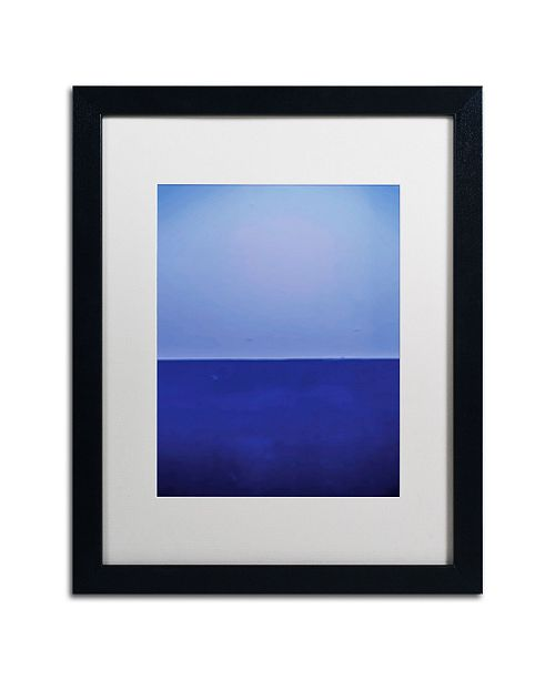 """Trademark Global Claire Doherty 'Silence' Matted Framed Art - 16"""" x 20"""""""