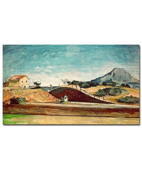 "Trademark Global Paul Cezanne 'The Railway Cutting, 1870' Canvas Art - 24"" x 14"""