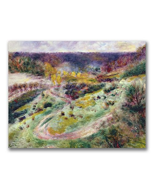 "Trademark Global Pierre Auguste Renoir 'Landscape at Wargemont' Canvas Art - 24"" x 18"""