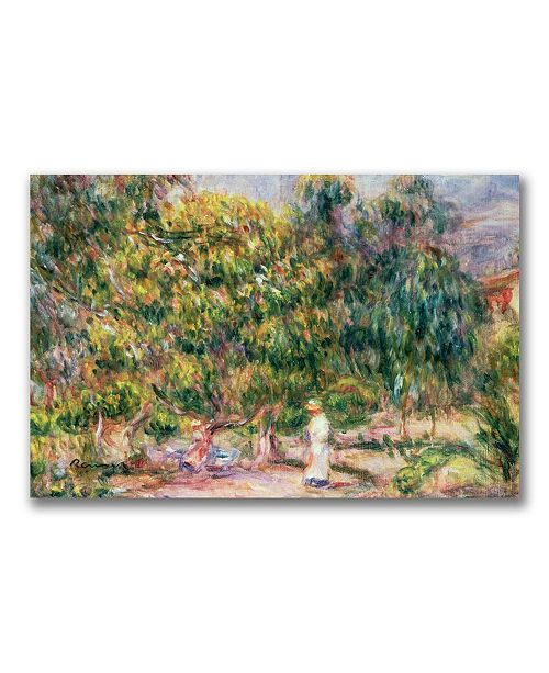 "Trademark Global Pierre Auguste Renoir 'Garden of Les Colettes' Canvas Art - 24"" x 18"""