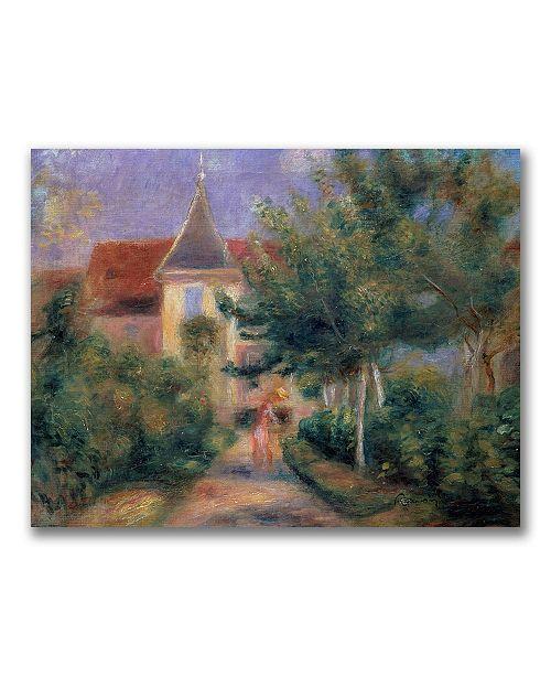 "Trademark Global Pierre Auguste Renoir 'Renior's house at Essoyes' Canvas Art - 32"" x 24"""