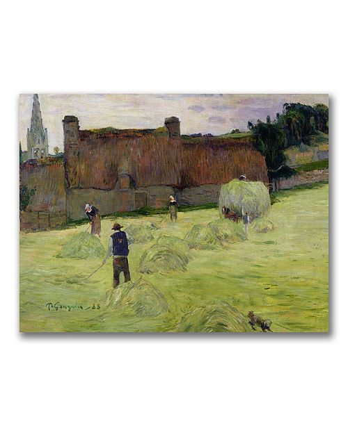 "Trademark Global Paul Gauguin 'Haymaking in Brittany' Canvas Art - 32"" x 24"""