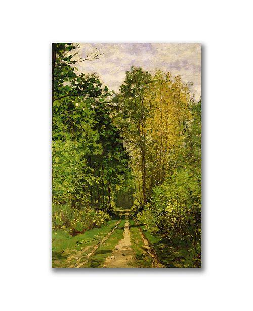 "Trademark Global Claude Monet 'Wooded Path 1865' Canvas Art - 47"" x 35"""