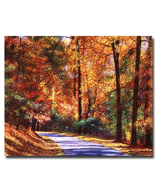 "Trademark Global David Lloyd Glover 'Along the Winding Road' Canvas Art - 32"" x 26"""