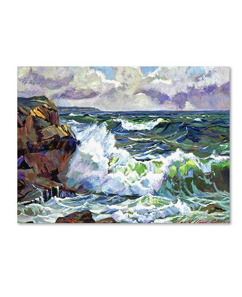 "Trademark Global David Lloyd Glover 'Ice River Sunrise' Canvas Art - 24"" x 18"""