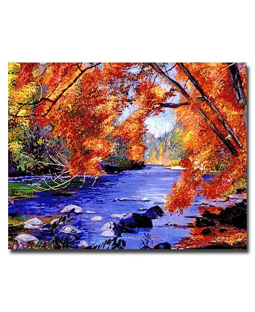 "Trademark Global David Lloyd Glover 'Vermont River' Canvas Art - 24"" x 18"""