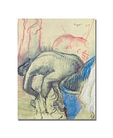 "Edgar Degas 'After Bath 1903' Canvas Art - 24"" x 18"""