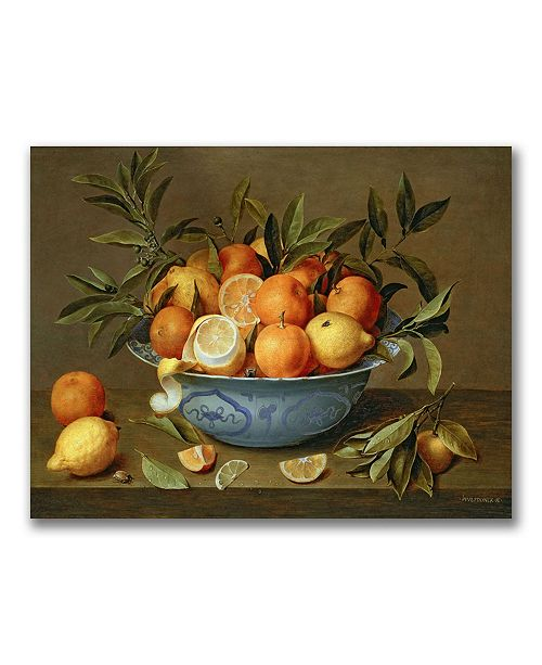 "Trademark Global Jacob van Hulsdonck 'Still Life with Oranges' Canvas Art - 24"" x 18"""