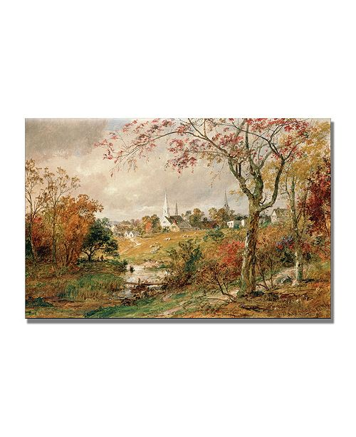 "Trademark Global Jasper Cropsey 'Autumn Landscape' Canvas Art - 32"" x 22"""