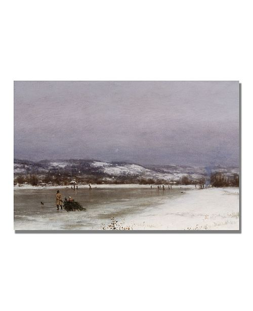 "Trademark Global Jervis McEntee 'Gathering Christmas Finery' Canvas Art - 47"" x 30"""