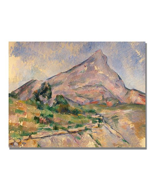 "Trademark Global Paul Cezanne 'Montagne Sainte-Victoire IV' Canvas Art - 24"" x 18"""