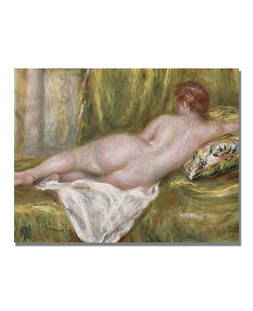 "Trademark Global Pierre Auguste Renoir 'Reclining Nude from the Back' Canvas Art - 47"" x 24"""