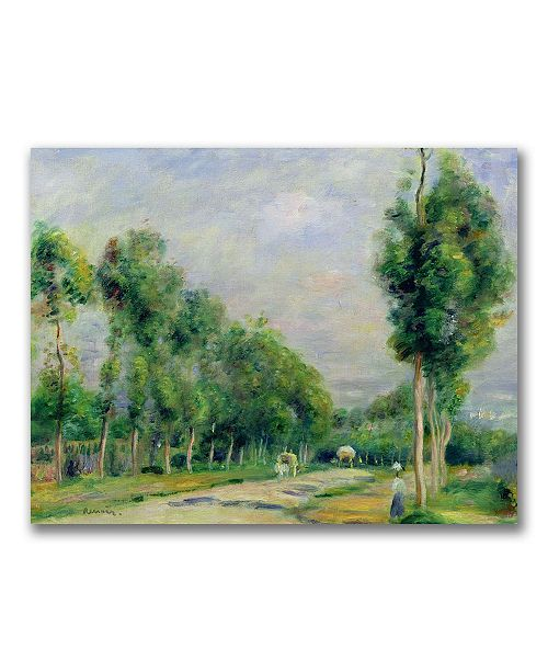 "Trademark Global Pierre Auguste Renoir 'The Road to Versailles' Canvas Art - 32"" x 24"""