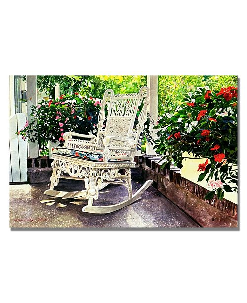 "Trademark Global David Lloyd Glover 'Summer Sun Porch' Canvas Art - 24"" x 16"""