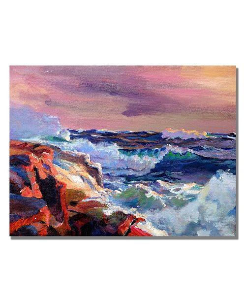 "Trademark Global David Lloyd Glover 'Surf Crashes' Canvas Art - 32"" x 24"""