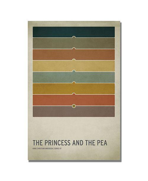 "Trademark Global Christian Jackson 'The Princess and the Pea' Canvas Art - 24"" x 16"""