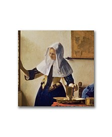 """Jan Vermeer 'Young Woman with a Water Jug' Canvas Art - 18"""" x 18"""""""