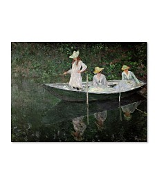 "Claude Monet 'The Boat at Giverny' Canvas Art - 47"" x 35"""